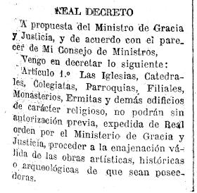 real decr 1923